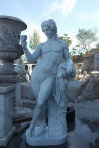 Bacchus  Greek god of Wine White Marble 17104