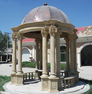 Domed Romanesque Gazebo  Granite  17123