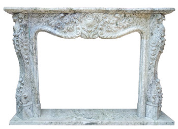 Fireplace Mantel  48X36  Green Marble  17159
