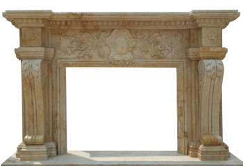 Fireplace Mantel  48X36  Travertine Marble  17161