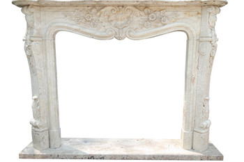 Fireplace Mantel  42X36  Travertine Marble  17165