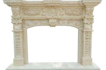 Fireplace Mantel  48X36  Beige Marble  17166