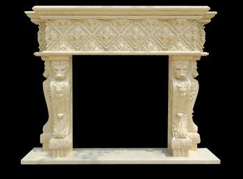 Fireplace Mantel  42X42  Beige Marble  17174