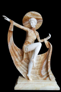 Caped Dancer in Multi Colored Marble 17195