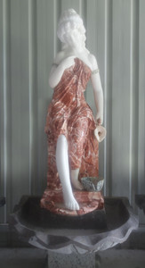 Woman Fountain in Multi Colored Marble  17268