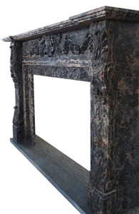Fireplace Mantel in Black Marble BOX DIM 48x36   17363