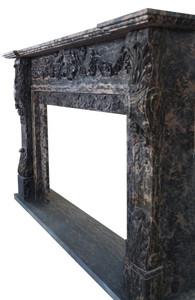 Fireplace Mantel in Black Marble BOX DIM 48x36   17363