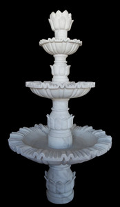 Three Tier White Marble Fountain   17374