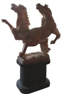 Stallions on Base in Sunglow Marble 17385