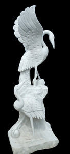 Crane Sculpture  White Marble  17442