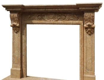 Fireplace Mantel  42X42  Beige Marble  17501