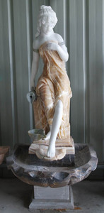 Woman in Fountain in Multi Colored Marble 18178