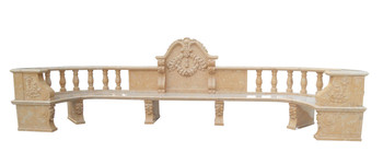 Magnificent Beige Marble Bench YS006