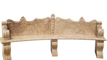 Golden Travertine Bench YS015