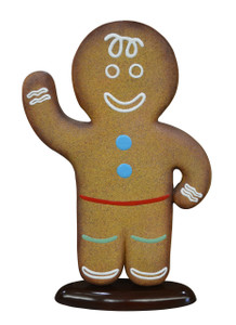 "44.5""H Christmas Gingerbread Boy 4Ft Fiberglass Novelty Collectable Decor"