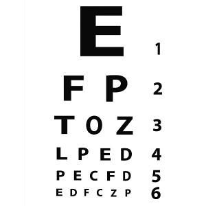 Modern  Eye Chart Gallery Wrap