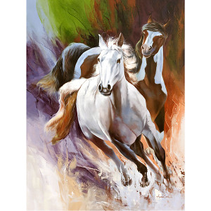Galloping Horses Gallery Wrap 03