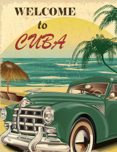 Welcome Cuba Gallery Wrap