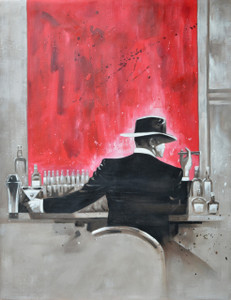 Red Bar Man Gallery Wrap