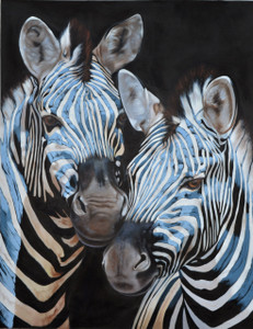 Zebra Blue Gallery Wrap
