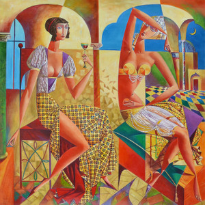 Cubism Two Women Gallery Wrap