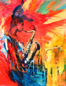 Sax Abstract Gallery Wrap