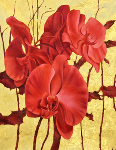 Red Orchid with Accents Gallery Wrap