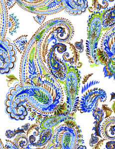Paisley Pattern Watercolor I
