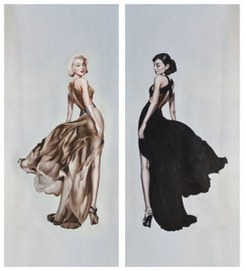 Marilyn And Audrey 24X61