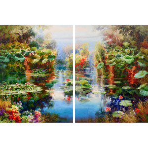 Enchanting Pond Diptych