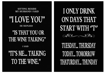 Funny Quote Set Of 3