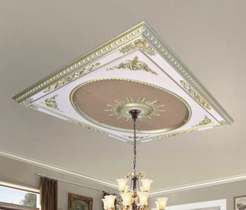 Rose Gold Monumental Ceiling Medallion 8 Ft X 10 Ft