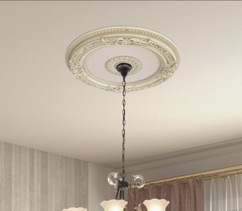Cream French Petite Round Ceiling Medallion 24  Inch