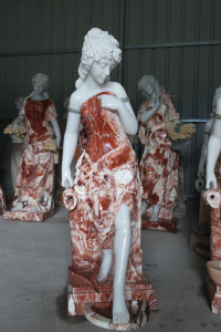 Red Lady Marble Fountain GE18794