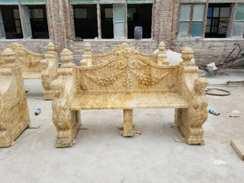Travertine Marble Bench GE18221