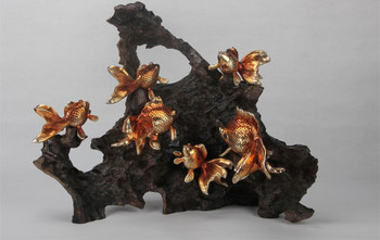 Goldfish And Coral Statue