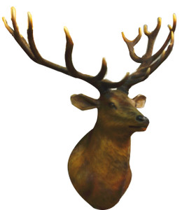 "58.5""H Grand Stag Wall Decor Novelty Collectable"