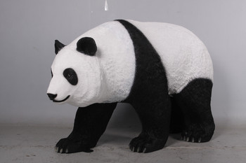 "40.5""H Walking Panda Fiberglass Novelty Collectable Decor"
