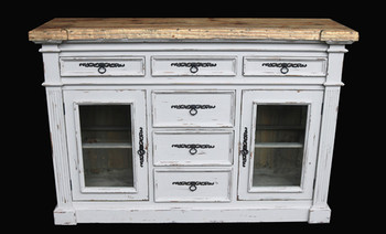Shappy Chic Bordeaux Sideboard Curio In Chaulk White