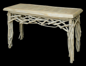 Coastal Teak Branch Console Table