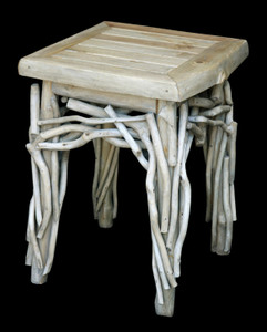 Coastal Teak Branch End Table