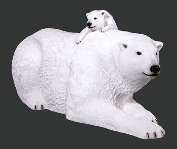 Christmas Polar Bear with Cub