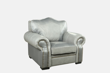 Botswana Croc And Leather Grey Chair