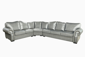 Botswana Croc And Leather Grey Large Sectional