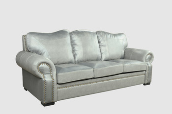Botswana Croc And Leather Gray Sofa