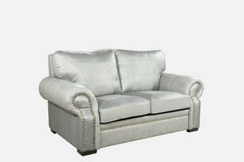 Botswana Croc And Leather Gray Loveseat