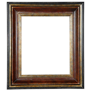 Black Pearl Frame 36X36 Burl Marble Dark Gold