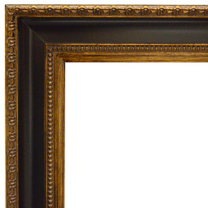 Classic Contour Frame 48X48 Black and Burnished Gold