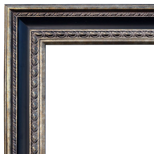 Elegantly Grand Frame 48X60 Gold Silver Black