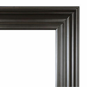 Grand Simplicity Frame 36X72 Black with Red Undertones